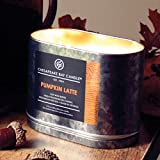 Chesapeake Bay Candle Heritage Collection Double Wick Tin Candle, Pumpkin Latte