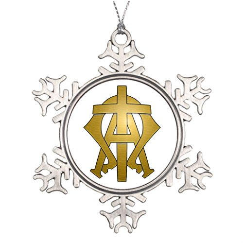 Xmas Trees Decorated Alpha Omega Chrismas Snowflake Ornaments Easter