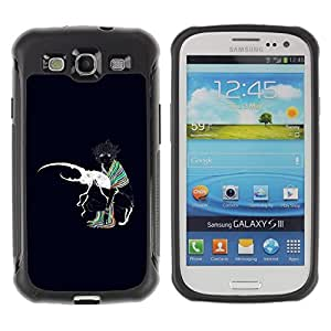 "Pulsar iFace Series Tpu silicona Carcasa Funda Case para Samsung Galaxy S3 III I9300 , Beetle Bug Amor Arte Blanca Colrful Chica bufanda"""
