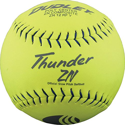 Dudley USSSA Thunder ZN Slow Pitch Softball .40 COR Classic M Stamp 12 pack 4U-540Y