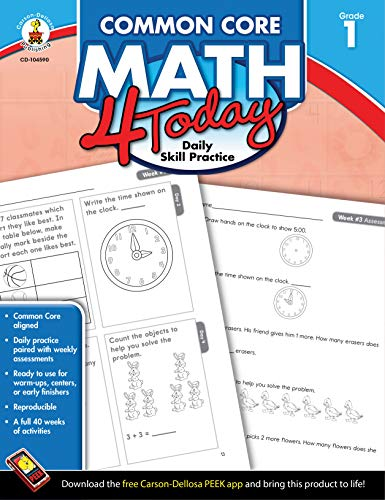 Common Core Math 4 Today, Grade 1: Daily Skill Practice (Common Core 4 Today) (Daily Math Practice Grade 1)