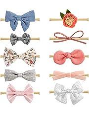 CheeLom Diademas y lazos para bebés, accesorios para el cabello para recién nacidos,bebés y niños pequeños