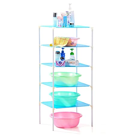 Floor to ceiling rectangle plastic bath racks/Storage shelf/the ...