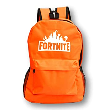 Desconocido Mochila Fortnite. Logo Fluorescente. Color Naranja.