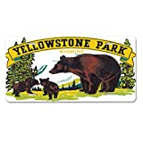 Style in Print Yellowstone Park WY Old Travel Poster Car Aluminum License Plate