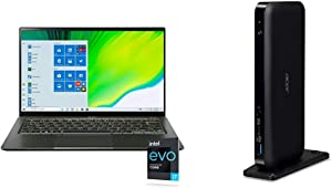 "Acer Swift 5 Intel EVO Thin & Light Laptop, 14"" Full HD Touch, Intel Core i7-1165G7, Intel Iris Xe Graphics, 16GB LPDDR4X, 1TB NVMe SSD, Wi-Fi 6, FPR with Acer USB Type-C Dock III"
