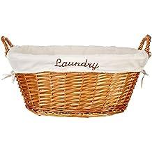 Home Basics Wicker Laundry Basket (Natural)