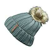 Women's Faux Fur Pompoms Lined Thick Knitted Warm - Best Reviews Guide
