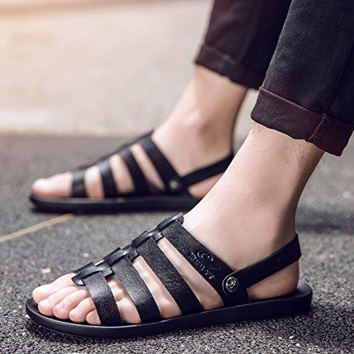 Xing Lin Sandalias De Hombre Flip-Flops Verano Hombre De Inglaterra Sandalias Clip Nuevo Cool Antideslizante Sandalias Zapatos Tendencia 42 Negro