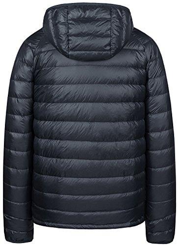 Packable Men's Hooded Insulated Jacket Grey Down Light Weight Wantdo Puffer RfwnpxR