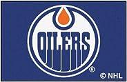 FANMATS NHL Edmonton Oilers Nylon Face Starter Rug