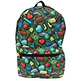 Minecraft Backpack - 17'' Pick Axe Bag with Pixel Sunglasses