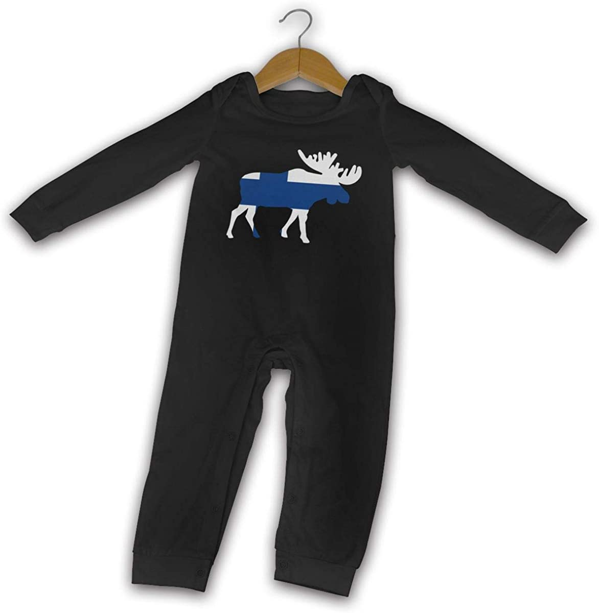 Retro Style Brooklyn Silhouette Newborn Baby Long-Sleeved Printed Playsuit Outfit