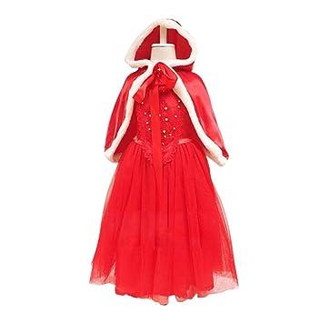 81ab81567 MissFox Vestidos De Princesas Disfraz Cosplay para Niña  Amazon.es   Deportes y aire libre