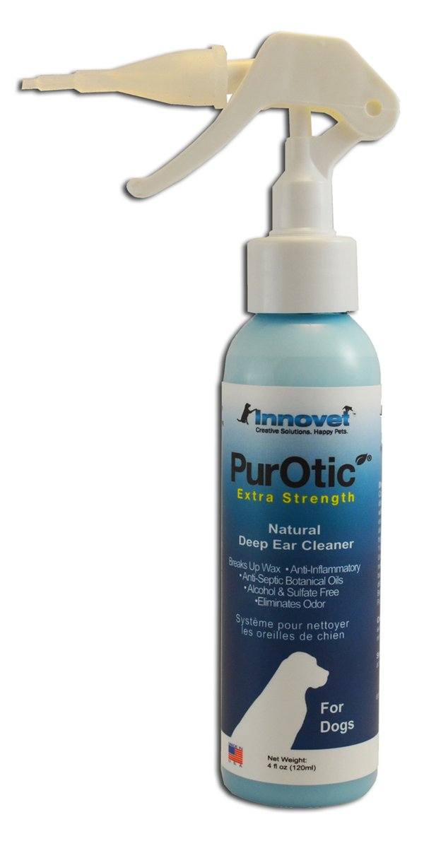 Innovet 8oz PurOtic Ear Cleaner Extra Strength for Dogs