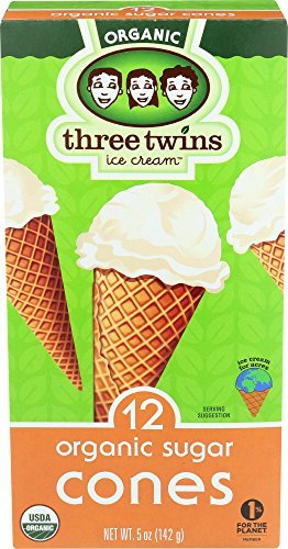 Three Twins Organic Sugar Cones, 5 oz ()