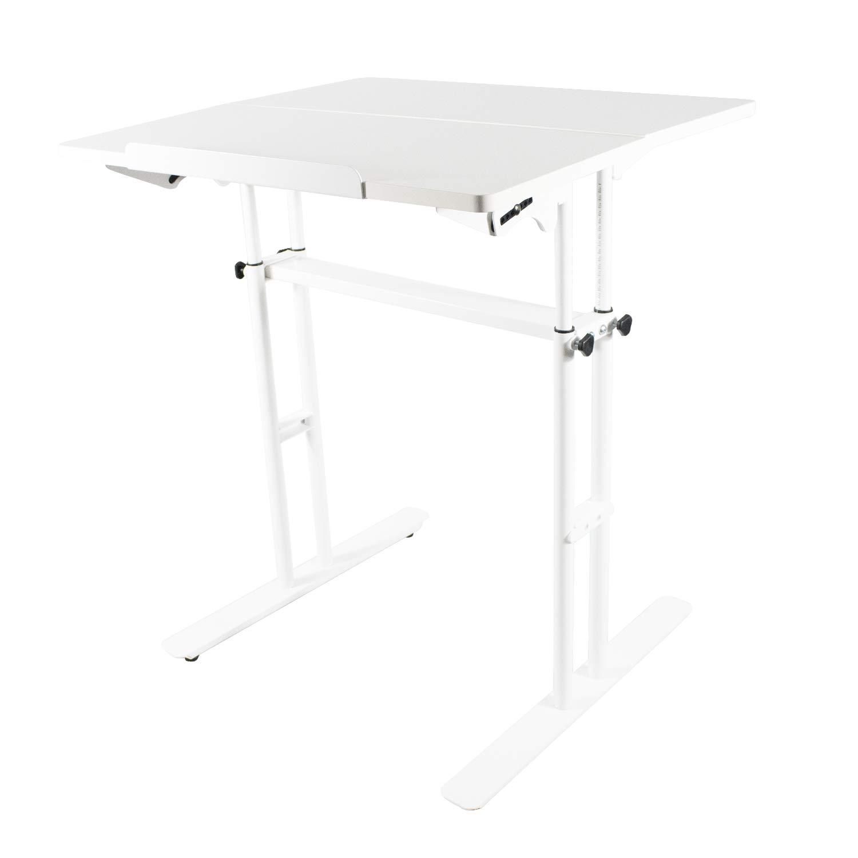 Standing Desk Adjustable Computer Desk Standing Seating 2 Modes Dark Grain (Black) WEINERBEE
