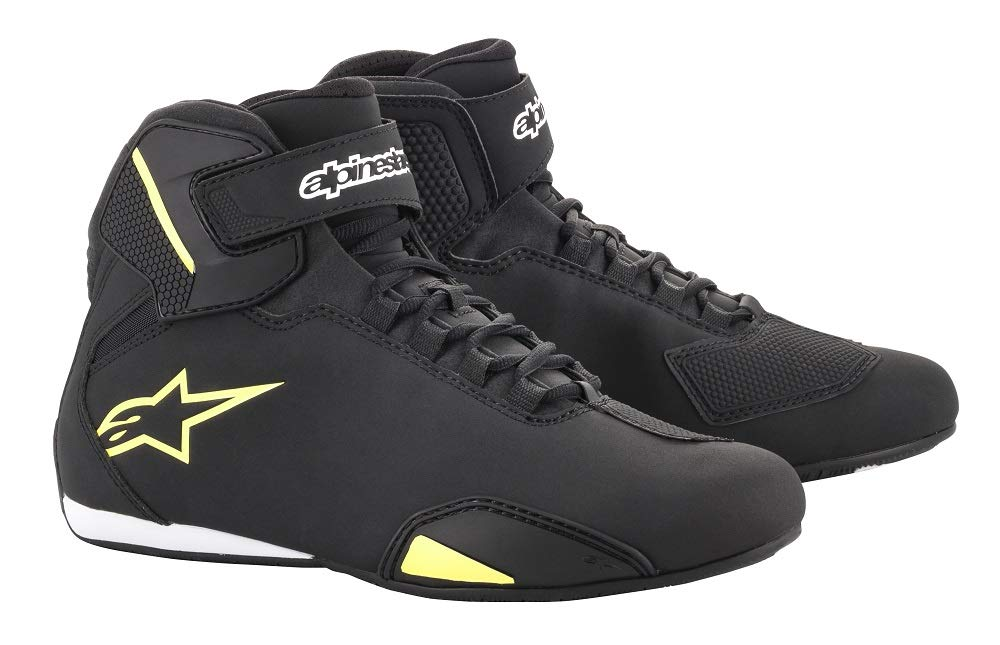 Alpinestars Men's Sektor Shoe (7, Black Yellow Flourecent)