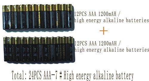Alkaline d cell batteries,High Capacity Alkaline Batteries AAA (7 #) 1200mAH total of 24Pack (Can be used for PIR human sensor lights)