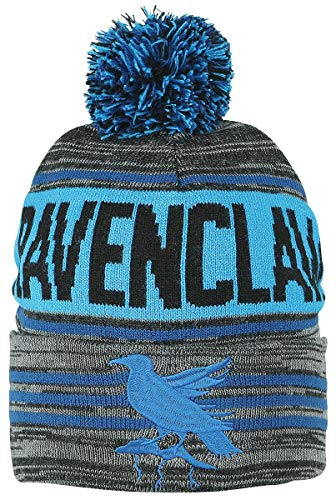 Harry Potter Hat (Harry Potter Black Blue Ravenclaw Rolled Beanie,One)