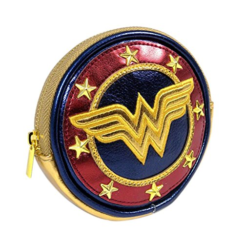 Officially Licensed DC Comics Ladies Wonder Woman Logo Round Coin Purse