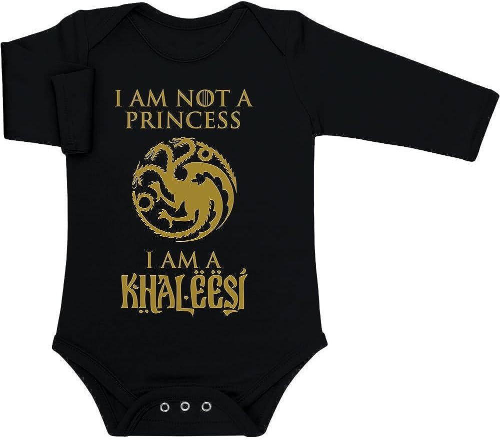 Regalo per Piccole Fans Body Neonato Manica Lunga Shirtgeil Sono Khaleesi Regina dei Draghi