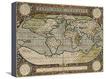 Amazon artedge antique world map 36x48 by vision studio canvas artedge antique world map 36x48 by vision studio canvas wall art gumiabroncs Choice Image