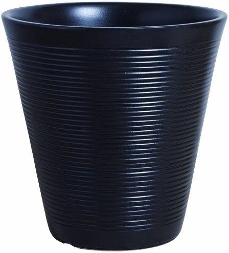 プラスガーデン 植木鉢カバー クレインプランター8号用 Φ360mm 底穴なし ブラック 信楽焼 296-02 B00D5P28V6