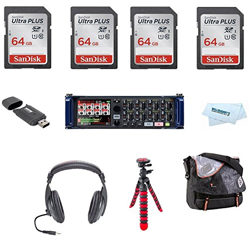Zoom F4 MultiTrack Field Recorder + The Added Value Bundle by Willoughby's