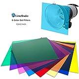 LimoStudio 12 x 12 inch, 8 pcs Color Gel Lighting Filter Transparent Color Film, Plastic Sheets for Camera Flash Light, AGG2555