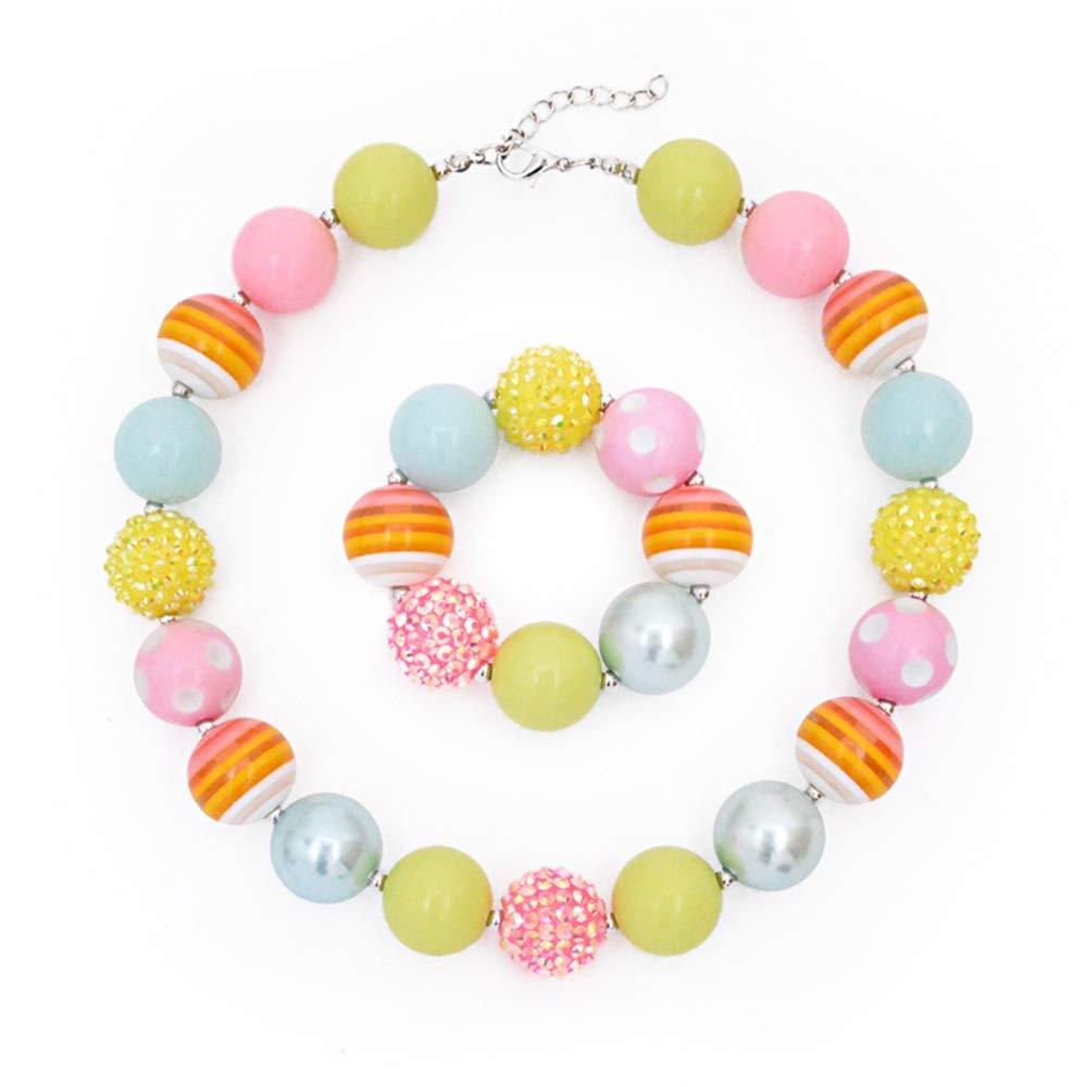 d731e2a21816 Gargantilla collar conjunto con decoración Joyas para niños Niñas ...