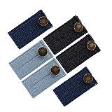 Naler 6pcs Button Extenders, Button Hook Waist Extender for Jean Pants Trousers Shirts