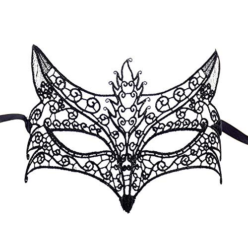 E-Laurels Exquisite Lace Masquerade Mask Dancing Pretty Party Evening Prom Eye Mask Halloween Fancy Dress Costume Cosplay -
