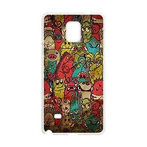 Samsung Galaxy Note 4 Cases Creepy Creatures, Samsung Galaxy Note 4 Cases Funny for Men, [White]