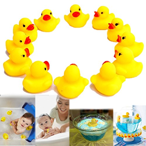 Dazzling Toys Rubber Small Cute Duck Ducky Duckie Baby Shower - Pack of 24 (D102/2)