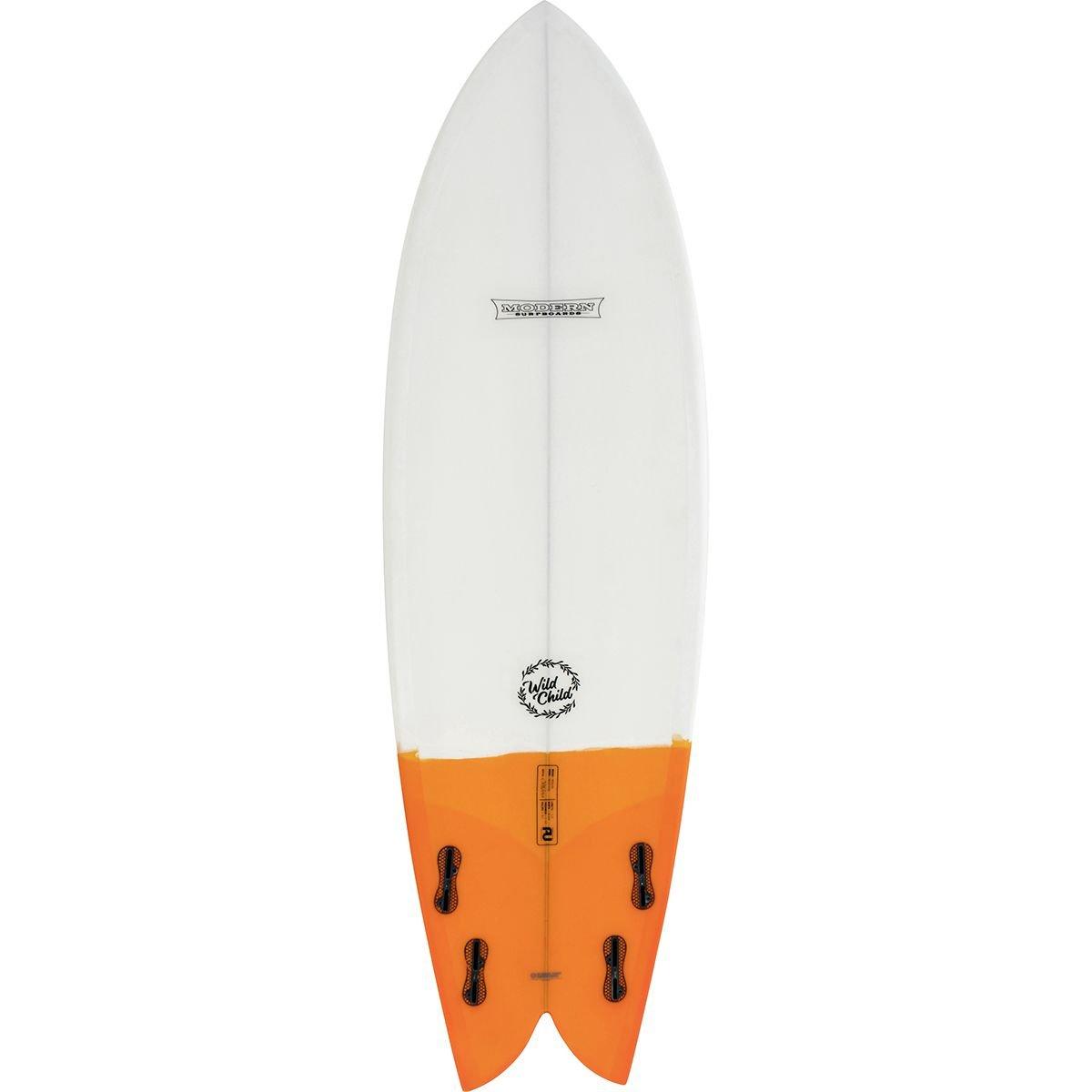 Modern Wild - Tabla de Surf para niños (Poliuretano, 1,8 m), Color Blanco y Naranja: Amazon.es: Deportes y aire libre