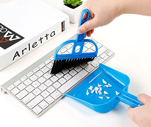 HIOTECH Keyboard Broom & Dustpan Set Tiny Pet Waste Shovels Cleaner for Keyboard Car Animal Pet Waste ()