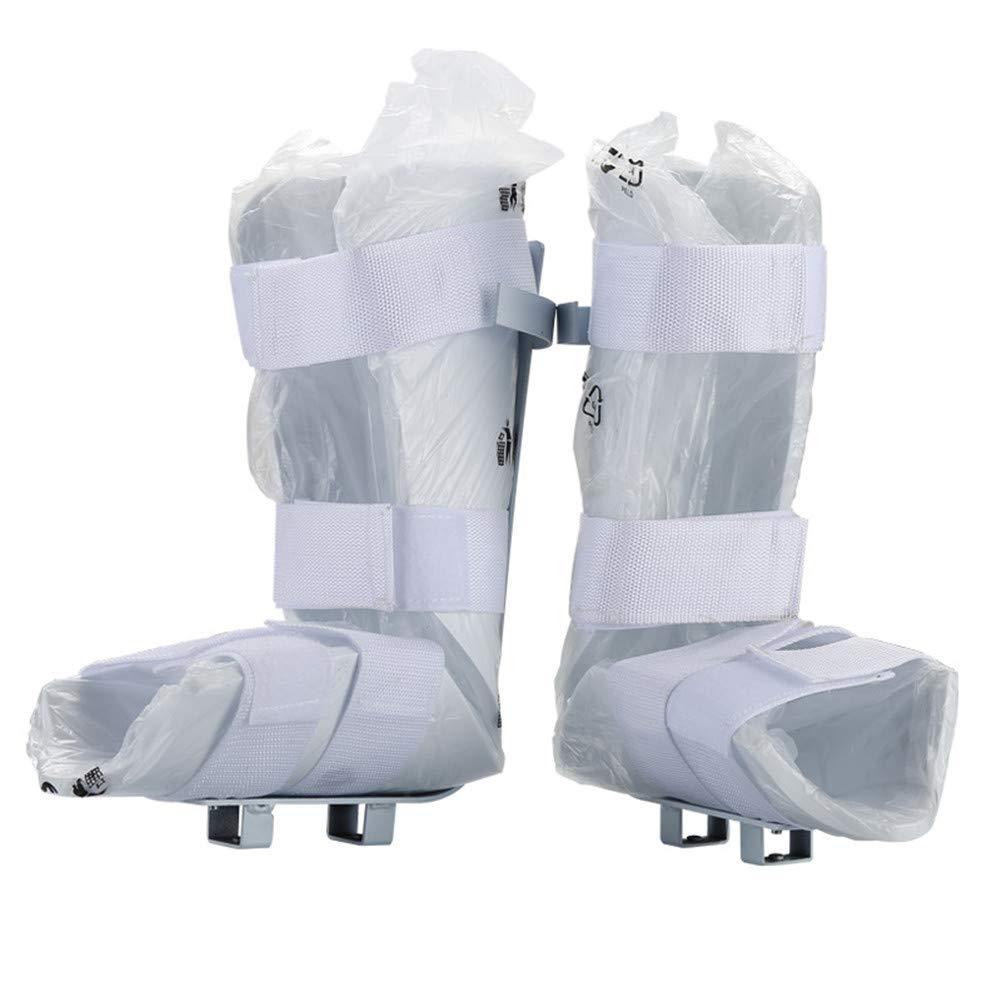 Comfort Universal Leg Support for Motorized Pedal Exerciser and Exercise Bike, White, 1 Pair