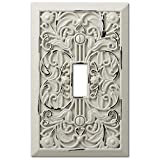 Filigree Antique White Cast 1 Toggle Wallplate