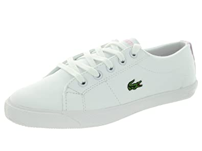 9567efa4df1f Lacoste Girl s Kids  Marcel Sneaker Preschool White Light Pink ...