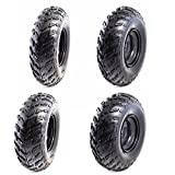 TDPRO Set of 4 ATV Tires 23x7-10 Wheels with Rims | Tubeless tire for Go Kart UTV Quad Bike