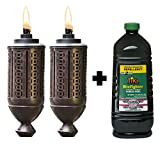 TIKI Torch Kits: 65-Inch Metal Torch, Copper 2-pack and TIKI Brand 100 oz. Bitefighter Moskitos Fuel
