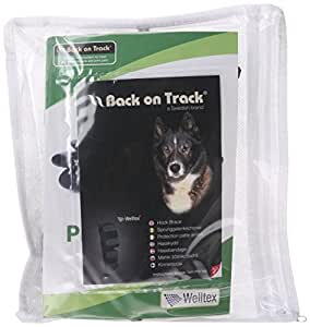 Back on Track Therapeutic Dog Rear Leg/Hock Brace (Pair) Medium 7.8-Inch Length, 6.25 to 6.75-Inches Top Width, 4.75 to 5.1-Inches Bottom Width with 4 Adjustable Velcro Straps