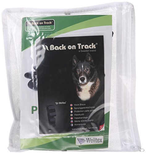 - Back on Track Therapeutic Dog Rear Leg/Hock Brace (Pair) Medium 7.8-Inch Length, 6.25 to 6.75-Inches Top Width, 4.75 to 5.1-Inches Bottom Width with 4 Adjustable Straps