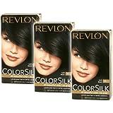 Revlon Revlon Colorsilk Natural Hair Color 11 Soft Black - 1 Ea, 3 Pack