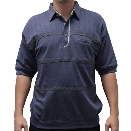 Classics by Palmland French Terry Banded Bottom Shirt - 6090-620J-NAVY (MEDIUM, (Terry Banded Bottom Shirt)