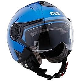 Studds Downtown Open Face Helmet (Flame Blue, M)