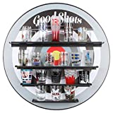 Lily's Home Bullseye Archery Sports Inspired Shot Glass Wall Display Shelf | Shot Glasses Not Included | 17.5 Inch