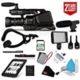 Panasonic AG-AC8PJ Shoulder Mount Video Camera with 3-Inch LCD (Black) + Sandisk 32gb ULTRA SDHC Memory Card + 2 Year Extended Warranty Kit