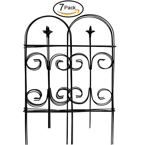wrought iron garden fencing - 7
